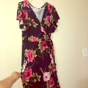 High low wrap dress XL